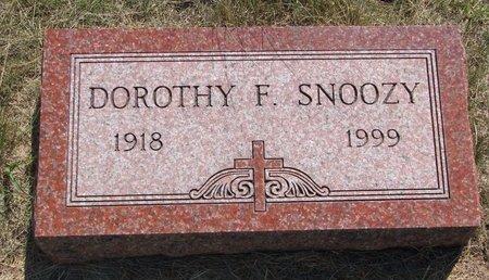 SNOOZY, DOROTHY F. - Turner County, South Dakota | DOROTHY F. SNOOZY - South Dakota Gravestone Photos