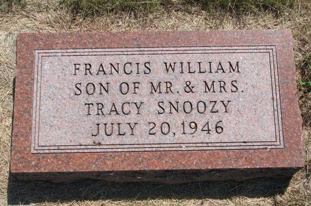 SNOOZY, FRANCIS WILLIAM - Turner County, South Dakota | FRANCIS WILLIAM SNOOZY - South Dakota Gravestone Photos
