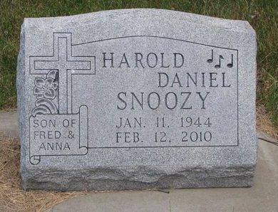 SNOOZY, HAROLD DANIEL - Turner County, South Dakota | HAROLD DANIEL SNOOZY - South Dakota Gravestone Photos