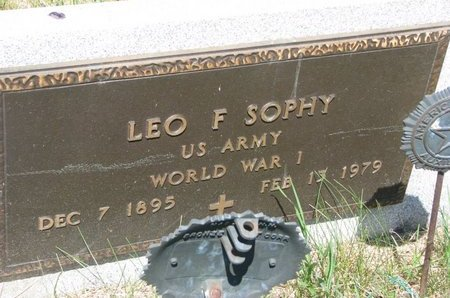 SOPHY, LEO F. (MILITARY) - Turner County, South Dakota | LEO F. (MILITARY) SOPHY - South Dakota Gravestone Photos