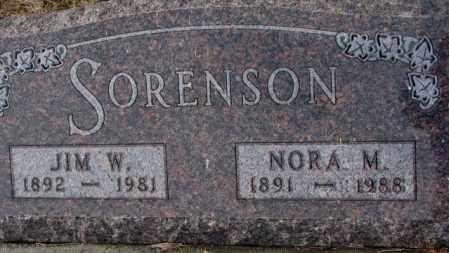 SORENSON, NORA M. - Turner County, South Dakota   NORA M. SORENSON - South Dakota Gravestone Photos