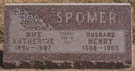 SPOMER, HENRY - Turner County, South Dakota | HENRY SPOMER - South Dakota Gravestone Photos