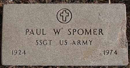 SPOMER, PAUL W (MILITARY) - Turner County, South Dakota | PAUL W (MILITARY) SPOMER - South Dakota Gravestone Photos