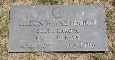 SQUIRES, MILTON WAYNE - Turner County, South Dakota   MILTON WAYNE SQUIRES - South Dakota Gravestone Photos