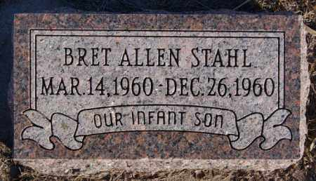STAHL, BRET ALLEN - Turner County, South Dakota | BRET ALLEN STAHL - South Dakota Gravestone Photos