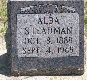 STEADMAN, ALBA - Turner County, South Dakota | ALBA STEADMAN - South Dakota Gravestone Photos