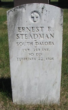STEADMAN, ERNEST R. - Turner County, South Dakota | ERNEST R. STEADMAN - South Dakota Gravestone Photos