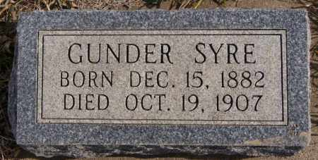 SYRE, GUNDER - Turner County, South Dakota   GUNDER SYRE - South Dakota Gravestone Photos