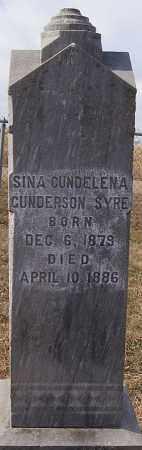 SYRE, SINA GUNDELENA GUNDERSON - Turner County, South Dakota   SINA GUNDELENA GUNDERSON SYRE - South Dakota Gravestone Photos