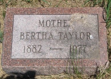 TAYLOR, BERTHA - Turner County, South Dakota | BERTHA TAYLOR - South Dakota Gravestone Photos