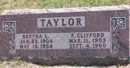 TAYLOR, R. CLIFFORD - Turner County, South Dakota | R. CLIFFORD TAYLOR - South Dakota Gravestone Photos