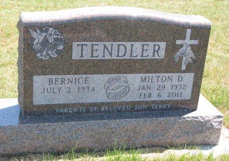TENDLER, MILTON DONALD - Turner County, South Dakota | MILTON DONALD TENDLER - South Dakota Gravestone Photos