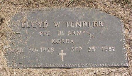 TENDLER, LLOYD W. - Turner County, South Dakota | LLOYD W. TENDLER - South Dakota Gravestone Photos