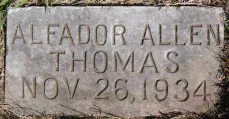 THOMAS, ALFADOR ALLEN - Turner County, South Dakota | ALFADOR ALLEN THOMAS - South Dakota Gravestone Photos