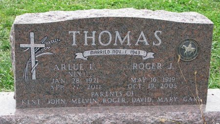 THOMAS, ARLUE L - Turner County, South Dakota | ARLUE L THOMAS - South Dakota Gravestone Photos
