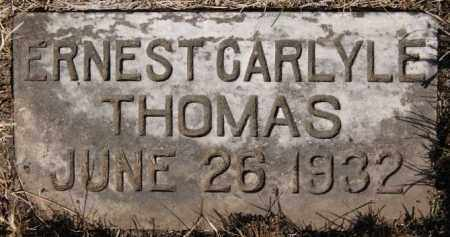 THOMAS, ERNEST CARLYLE - Turner County, South Dakota | ERNEST CARLYLE THOMAS - South Dakota Gravestone Photos