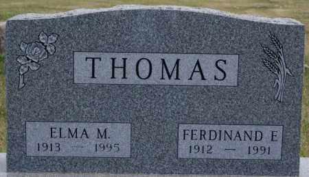 THOMAS, FERDINAND E - Turner County, South Dakota   FERDINAND E THOMAS - South Dakota Gravestone Photos