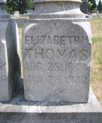 THOMAS, ELIZABETH M. (CLOSE UP) - Turner County, South Dakota | ELIZABETH M. (CLOSE UP) THOMAS - South Dakota Gravestone Photos