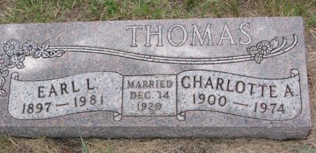 THOMAS, CHARLOTTE ANN - Turner County, South Dakota | CHARLOTTE ANN THOMAS - South Dakota Gravestone Photos
