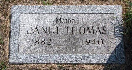 THOMAS, JANET - Turner County, South Dakota   JANET THOMAS - South Dakota Gravestone Photos