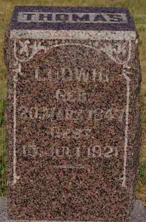 THOMAS, LUDWIG - Turner County, South Dakota | LUDWIG THOMAS - South Dakota Gravestone Photos