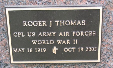 THOMAS, ROGER J. (MILITARY) - Turner County, South Dakota | ROGER J. (MILITARY) THOMAS - South Dakota Gravestone Photos