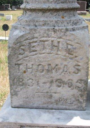 THOMAS, SETH E. (CLOSE UP) - Turner County, South Dakota   SETH E. (CLOSE UP) THOMAS - South Dakota Gravestone Photos