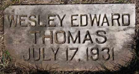 THOMAS, WESLEY EDWARD - Turner County, South Dakota | WESLEY EDWARD THOMAS - South Dakota Gravestone Photos