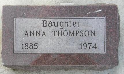 THOMPSON, ANNA - Turner County, South Dakota   ANNA THOMPSON - South Dakota Gravestone Photos