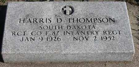 THOMPSON, HARRIS D (MILITARY) - Turner County, South Dakota | HARRIS D (MILITARY) THOMPSON - South Dakota Gravestone Photos