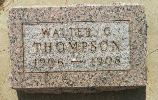 THOMPSON, WALTER C - Turner County, South Dakota | WALTER C THOMPSON - South Dakota Gravestone Photos