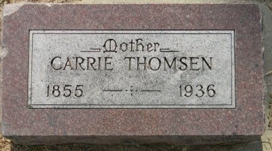THOMSEN, CARRIE - Turner County, South Dakota | CARRIE THOMSEN - South Dakota Gravestone Photos
