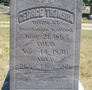 THOMSON, GEORGE (CLOSE UP) - Turner County, South Dakota | GEORGE (CLOSE UP) THOMSON - South Dakota Gravestone Photos