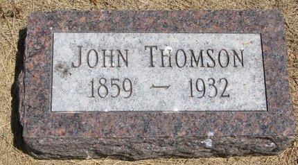 THOMSON, JOHN - Turner County, South Dakota | JOHN THOMSON - South Dakota Gravestone Photos