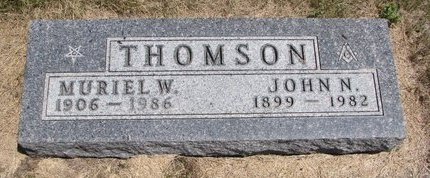THOMSON, JOHN N. - Turner County, South Dakota | JOHN N. THOMSON - South Dakota Gravestone Photos