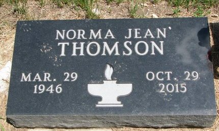 MUCKEY THOMSON, NORMA JEAN - Turner County, South Dakota | NORMA JEAN MUCKEY THOMSON - South Dakota Gravestone Photos