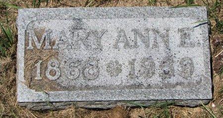 THURMAN, MARY ANN E. - Turner County, South Dakota | MARY ANN E. THURMAN - South Dakota Gravestone Photos