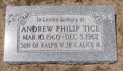 TICE, ANDREW PHILIP - Turner County, South Dakota   ANDREW PHILIP TICE - South Dakota Gravestone Photos