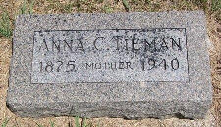 TIEMAN, ANNA C. - Turner County, South Dakota | ANNA C. TIEMAN - South Dakota Gravestone Photos