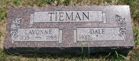 TIEMAN, DALE - Turner County, South Dakota   DALE TIEMAN - South Dakota Gravestone Photos