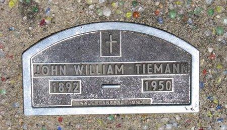 TIEMANN, JOHN WILLIAM - Turner County, South Dakota | JOHN WILLIAM TIEMANN - South Dakota Gravestone Photos