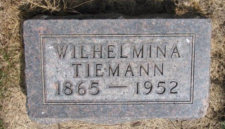 TIEMANN, WILHELMINA - Turner County, South Dakota | WILHELMINA TIEMANN - South Dakota Gravestone Photos
