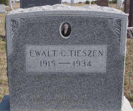 TIESZEN, EWALT C - Turner County, South Dakota   EWALT C TIESZEN - South Dakota Gravestone Photos