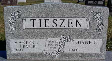 GRABER TIESZEN, MARLYS J - Turner County, South Dakota | MARLYS J GRABER TIESZEN - South Dakota Gravestone Photos