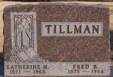 TILLMAN, FRED B - Turner County, South Dakota   FRED B TILLMAN - South Dakota Gravestone Photos