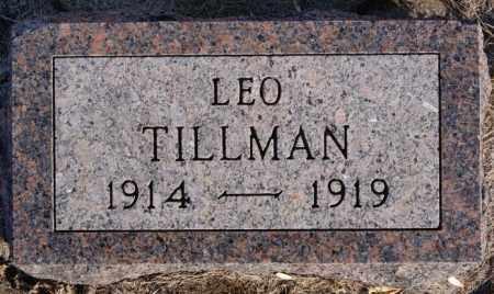 TILLMAN, LEO - Turner County, South Dakota | LEO TILLMAN - South Dakota Gravestone Photos