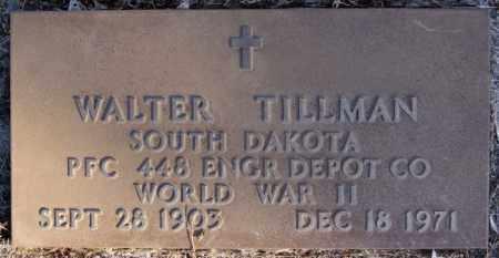 TILLMAN, WALTER (WWII) - Turner County, South Dakota   WALTER (WWII) TILLMAN - South Dakota Gravestone Photos
