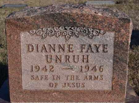 UNRUH, DIANNE FAYE - Turner County, South Dakota | DIANNE FAYE UNRUH - South Dakota Gravestone Photos