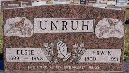 UNRUH, ELSIE - Turner County, South Dakota | ELSIE UNRUH - South Dakota Gravestone Photos
