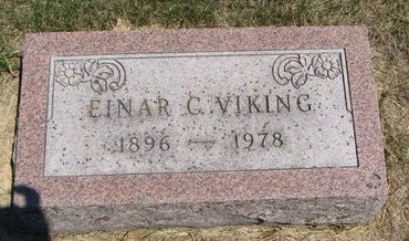 VIKING, EINAR C. - Turner County, South Dakota | EINAR C. VIKING - South Dakota Gravestone Photos